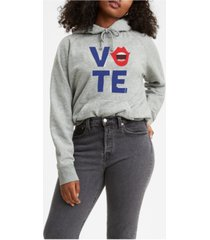 levi's graphic 2020 vote voice hooded sweatshirt