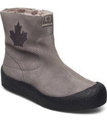quebec base shoes boots ankle boots ankle boot - flat grå canada snow