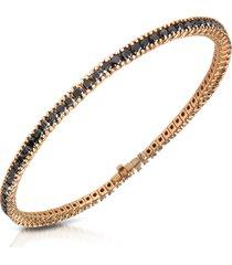 forzieri designer bracelets, black diamond eternity 18k gold tennis bracelet