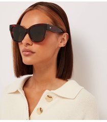 le specs women's le vacanze cat eye sunglasses - toffee tort/gold