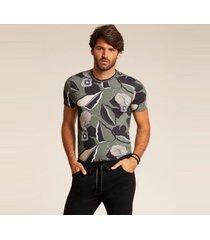 camiseta acostamento casual verde oliva - verde oliva - masculino - dafiti