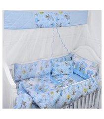 mosquiteiro cortinado 1,30m x 1,50m varal inteiro parapipi ref.1010  - minasrey-azul