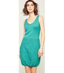 sukienka bez rękawów zielona