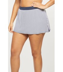 lane bryant women's slitted swim skirt - striped 14 seersucker stripe