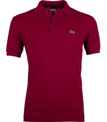 lacoste polo regular fit bordeaux l1212/476