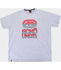 camiseta plus size ecko double color masculina - masculino