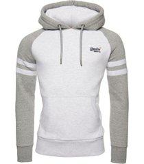 superdry men's orange label classic raglan hoodie