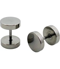 brinco tuliska estilo alargador - 8 mm prata