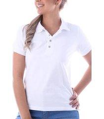 camisa polo slim pima com elastano - traymon feminina