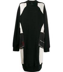 bernhard willhelm oversized sweater dress - black