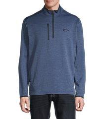 callaway men's three-quarter zip jacket - peacoat heather - size xs