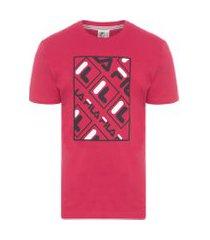 camiseta masculina canvas logo - vermelho