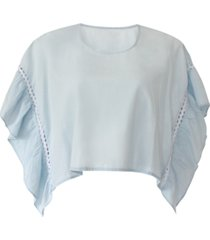 bcbgeneration cotton chambray top