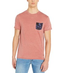 buffalo david bitton men's kilands burnout pocket t-shirt