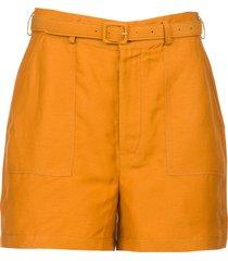 linnen high waist shorts oscar  bruin