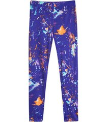 leggings deportivo estampado azul color morado, talla xxl