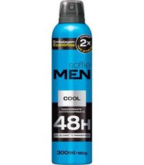 desodorante aerosol soffie men cool masculino 300ml