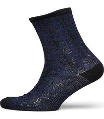 delilah lace sock lingerie socks regular socks blå becksöndergaard