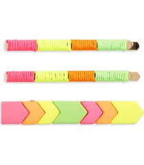 bp. geo tile 3-pack hair clips