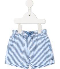sunuva striped seersucker shorts - blue