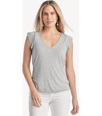 la made women's finn top in color: heather grey size xs from sole society