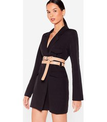 womens that's a wrap croc faux leather belt - nude