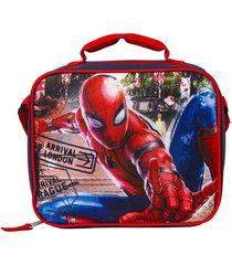 lonchera rectangular multicolor spiderman