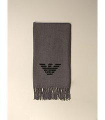 emporio armani scarf emporio armani wool scarf with logo