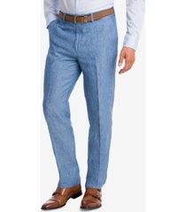 bar iii men's slim-fit linen suit pants, created for macy's