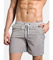 idoneità sport fodera in rete a rapida asciugatura doppia tasca cinghia da disegno per uomo
