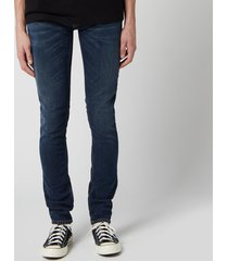 nudie jeans men's skinny lin jeans - west coast worn - w36/l32