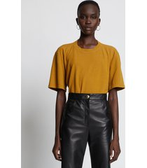 proenza schouler eco cotton t-shirt bronze/brown xl