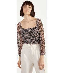 plumetis blouse met plooi