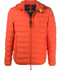 parajumpers hooded long sleeve down jacket - orange