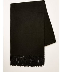 mens black woven scarf
