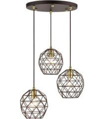 geometric 3 lights pendant