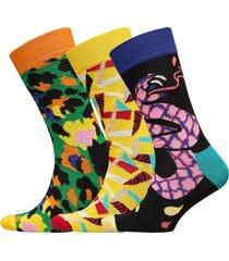 abstract animal gift box underwear socks regular socks multi/mönstrad happy socks
