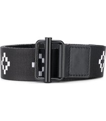 marcelo burlon county of milan cross logo belt - black