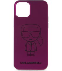 karl lagerfeld paris logo iphone 12 case - pink