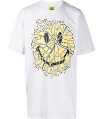 chinatown market glass smiley-print cotton t-shirt - white
