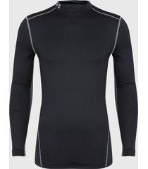 primera capa under armour ua cg armour mock negro - calce ajustado