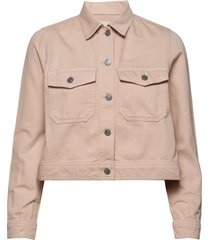 slfelli ls light pink denim jacket w jeansjacka denimjacka beige selected femme