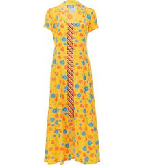 marlin dress, sunny floral and brown gingham