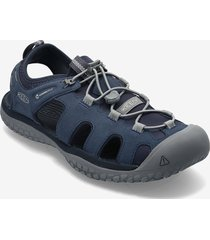 ke solr sandal m navy-steel grey shoes summer shoes sandals grå keen