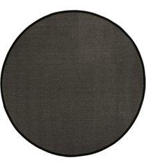 safavieh natural fiber anthracite and black 6' x 6' sisal weave round area rug