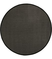 safavieh natural fiber anthracite and black 6' x 6' sisal weave round rug
