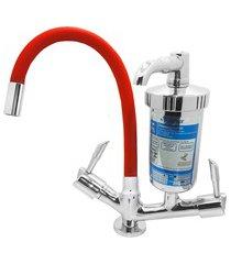 torneira filtro para cozinha de mesa c61 luxo vermelho