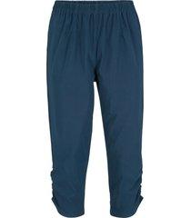 pantaloni capri in bengalina con elastico in vita (blu) - bpc bonprix collection
