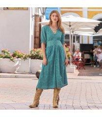 sundance catalog women's windblown dress in turquoise petite medium