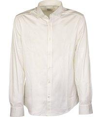 brunello cucinelli cotton jersey slim-fit shirt with spread collar